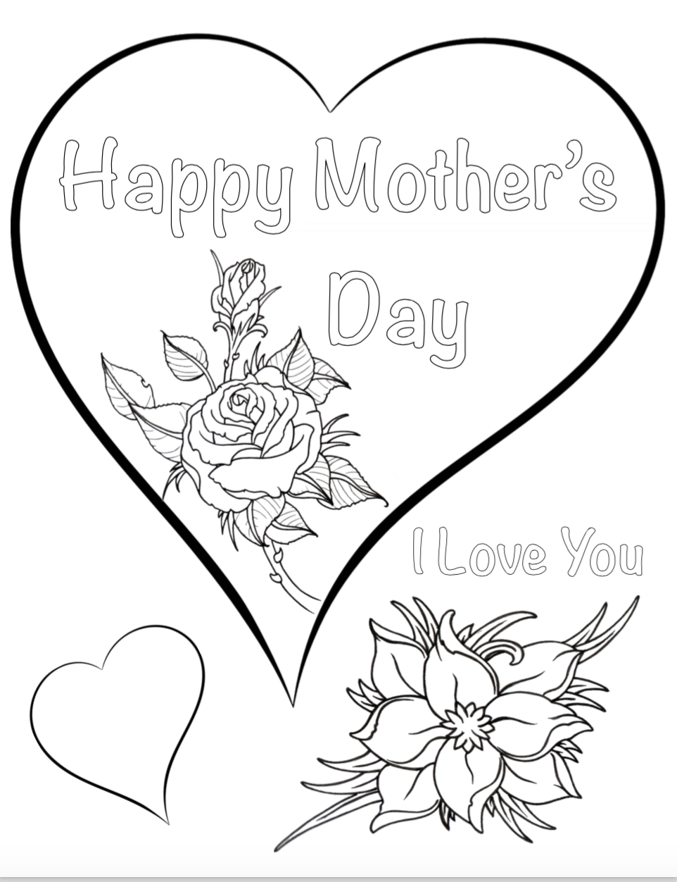 Free Printable Mother S Day Coloring Pages 4 Designs Mothers Day Coloring Pages Mothers Day Coloring Sheets Mother S Day Colors