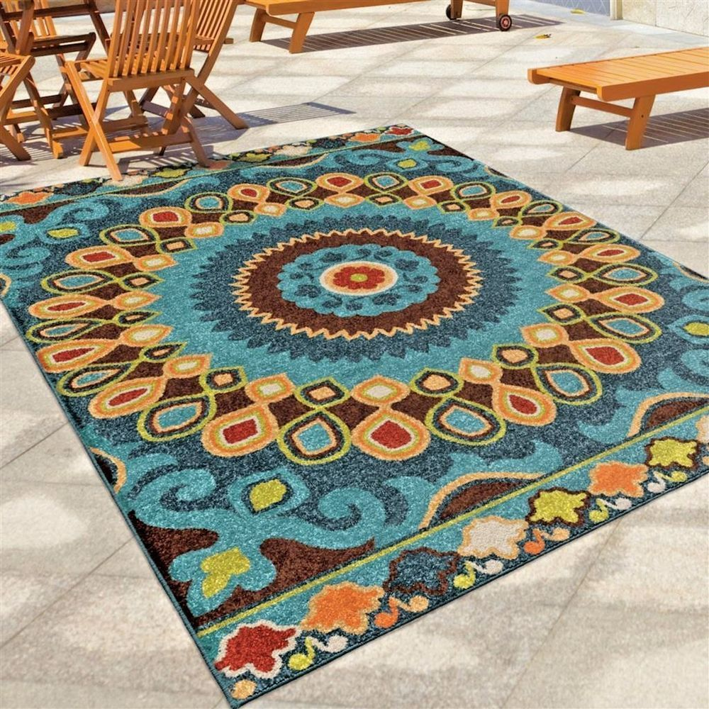 Rugs Area Rugs 8x10 Outdoor Rugs Indoor Outdoor Carpet Blue Large
