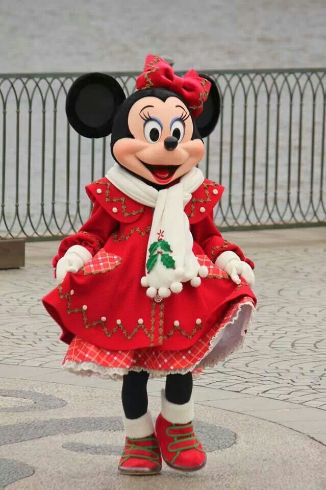 Christmas Minnie Mouse Disneyland.Minnie Christmas So Pretty Disney