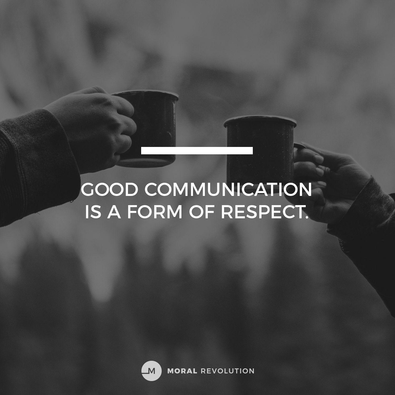 Moral Revolution Communication relationship, Godly
