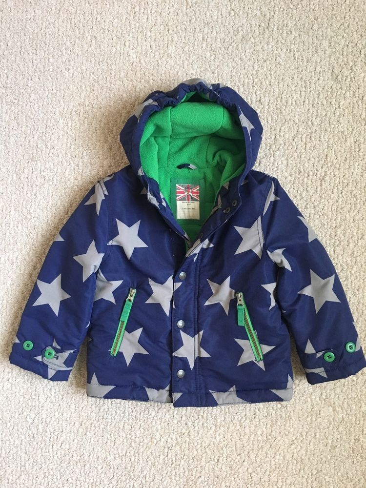 1fcf2f3b5 Mini Boden Boys Fleece Lined Anorak Jacket Blue Gray Star 3-4 Years #fashion  #clothing #shoes #accessories #kidsclothingshoesaccs #boysclothingsizes4up  ...