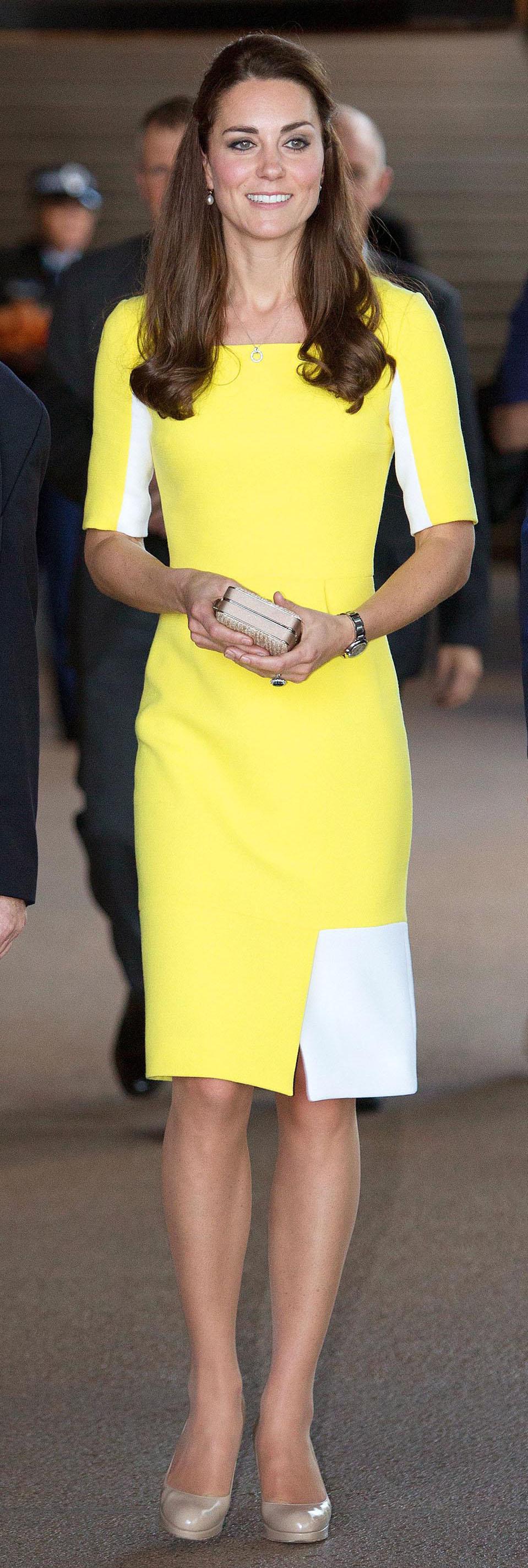 Kate middleton yellow dress in australia | Royal Family | Pinterest ...