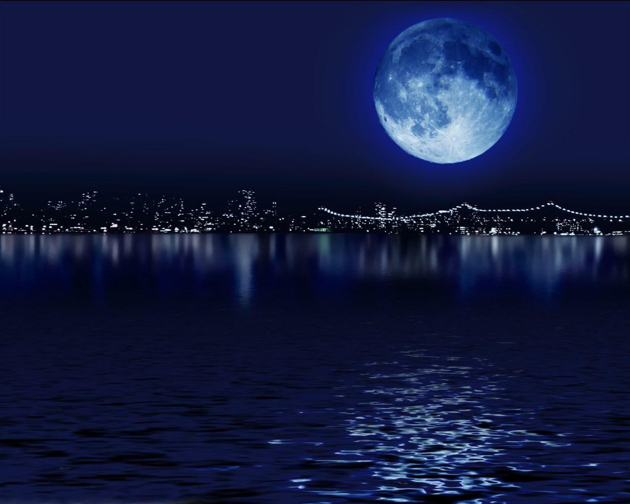 Dark Night Blue Moon Wallpaper Hd Wallpapers Backgrounds Dark N Beautiful Moon Blue Moon Moon