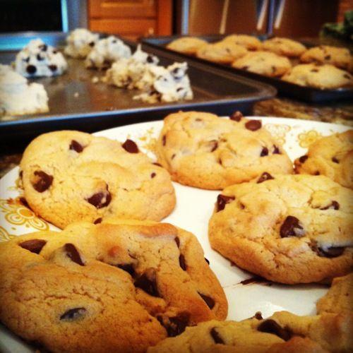 The baking progress.