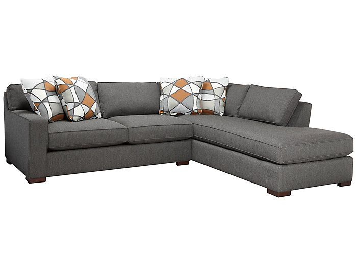 St Clair 2 Piece Left Arm Facing Apartment Sofa Sectional Grey Large