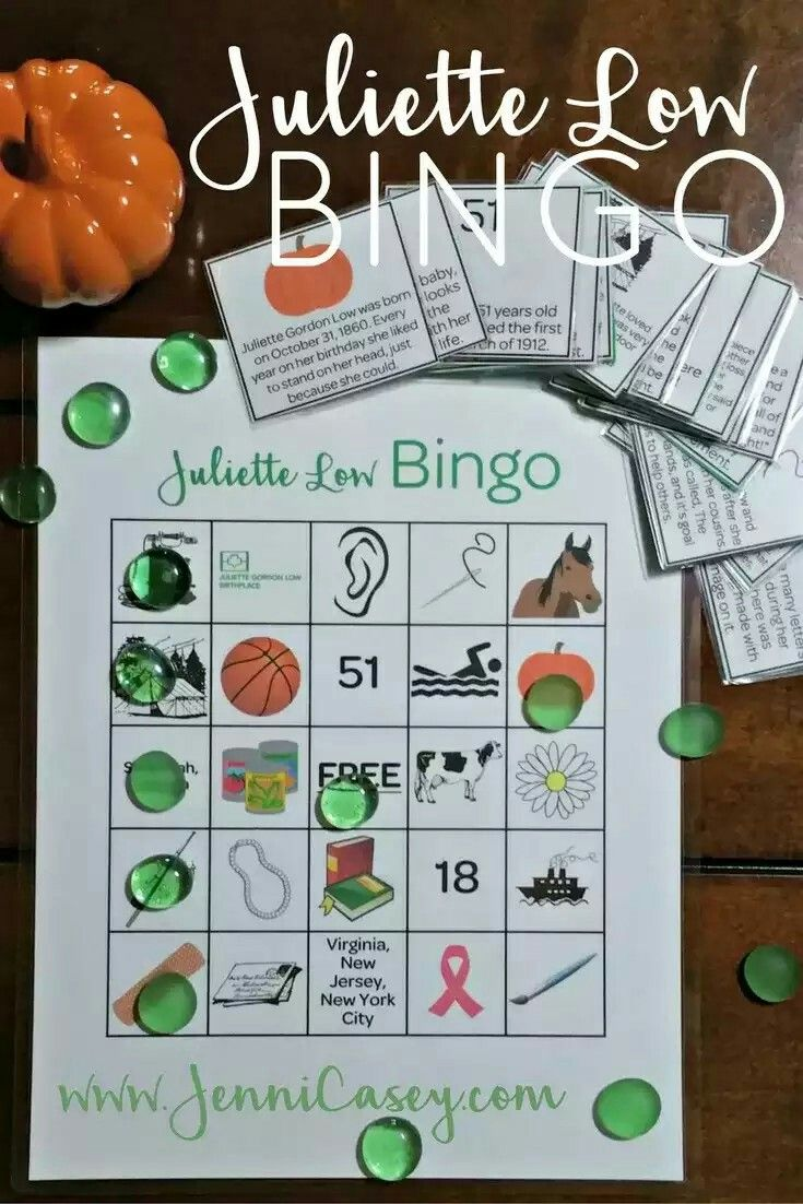 Learn More About Juliette Gordon Low With This Bingo Game