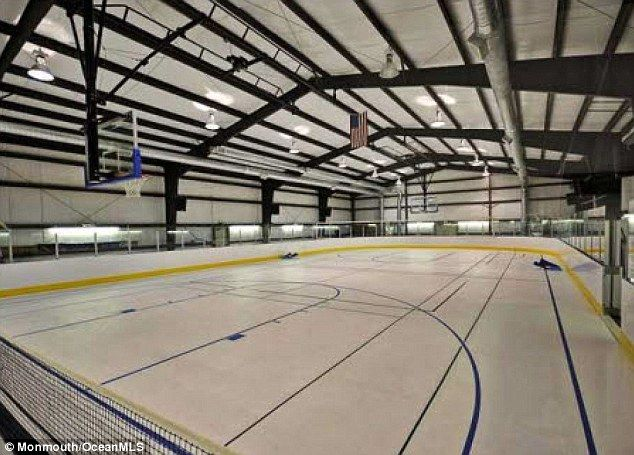 Mansion with indoor basketball court  Who said anything about recession! New Jersey couple put mansion ...