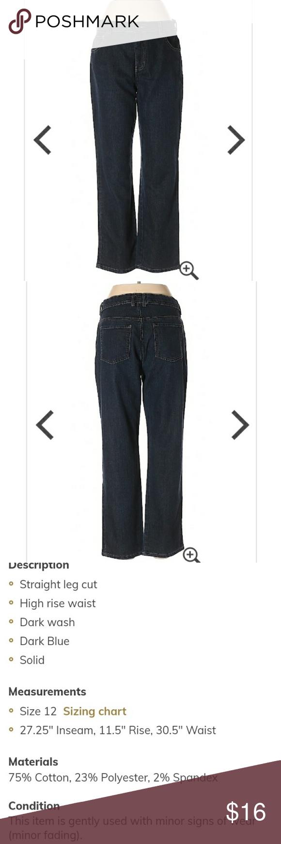 Gloria Vanderbilt Amanda Short Straight Leg Jeans Size 12 Short