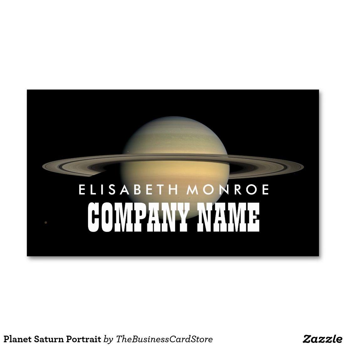 Planet Saturn Portrait Business Card