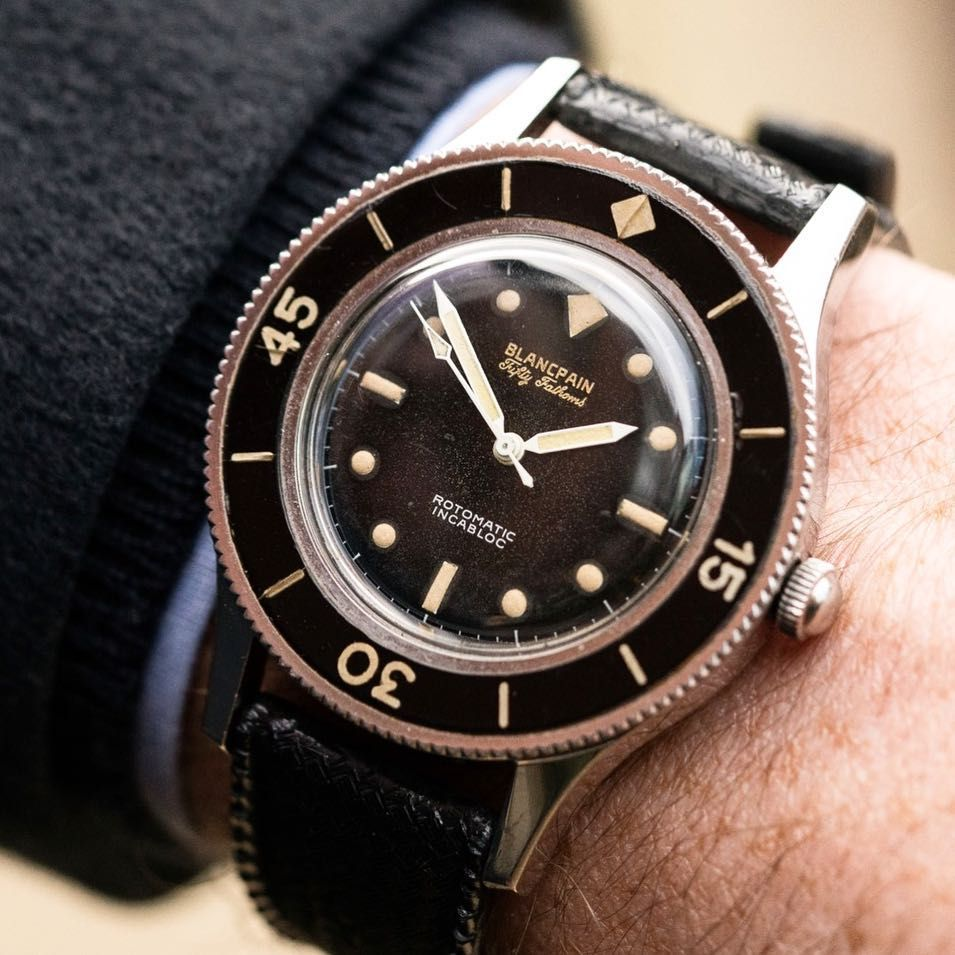 """The Blancpain Fifty Fathoms """"Rotomatic Incabloc"""" was the first ..."""