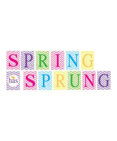 Love this 'Spring Has Sprung' Wall Banner by Ellen Crimi-Trent on #zulily! #zulilyfinds