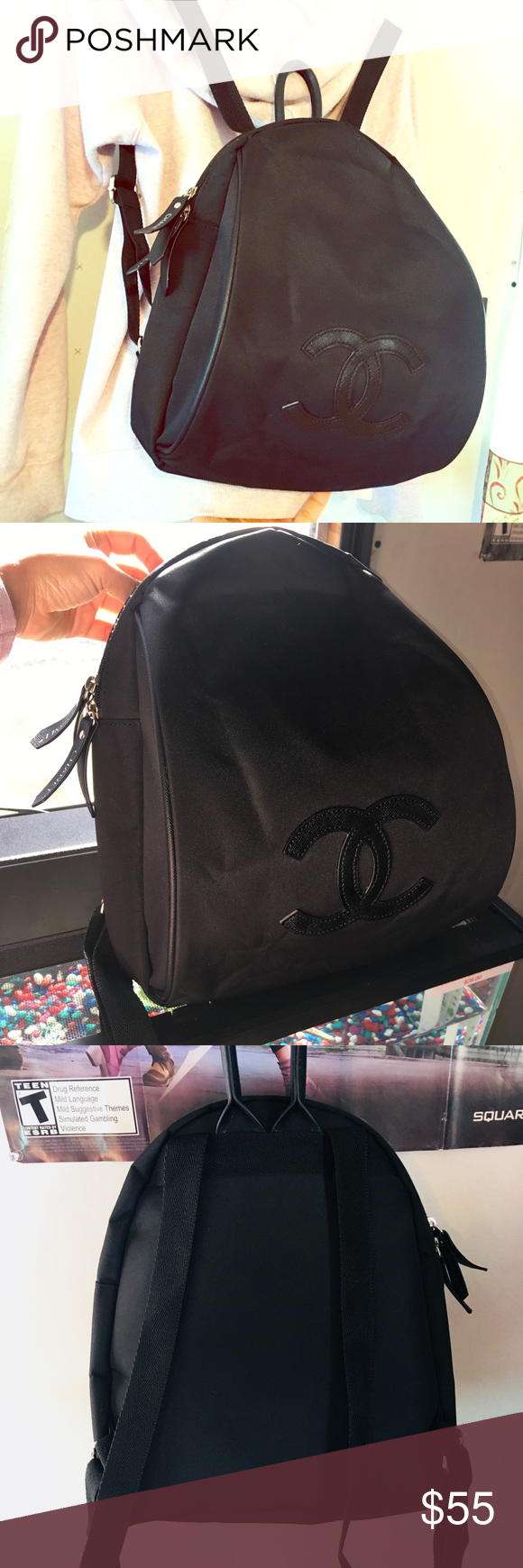 cee67afe3bf6 Used Chanel backpack VIP GIFT Pls READ this is VIP GIFT Nylon Backpack ,  school bag