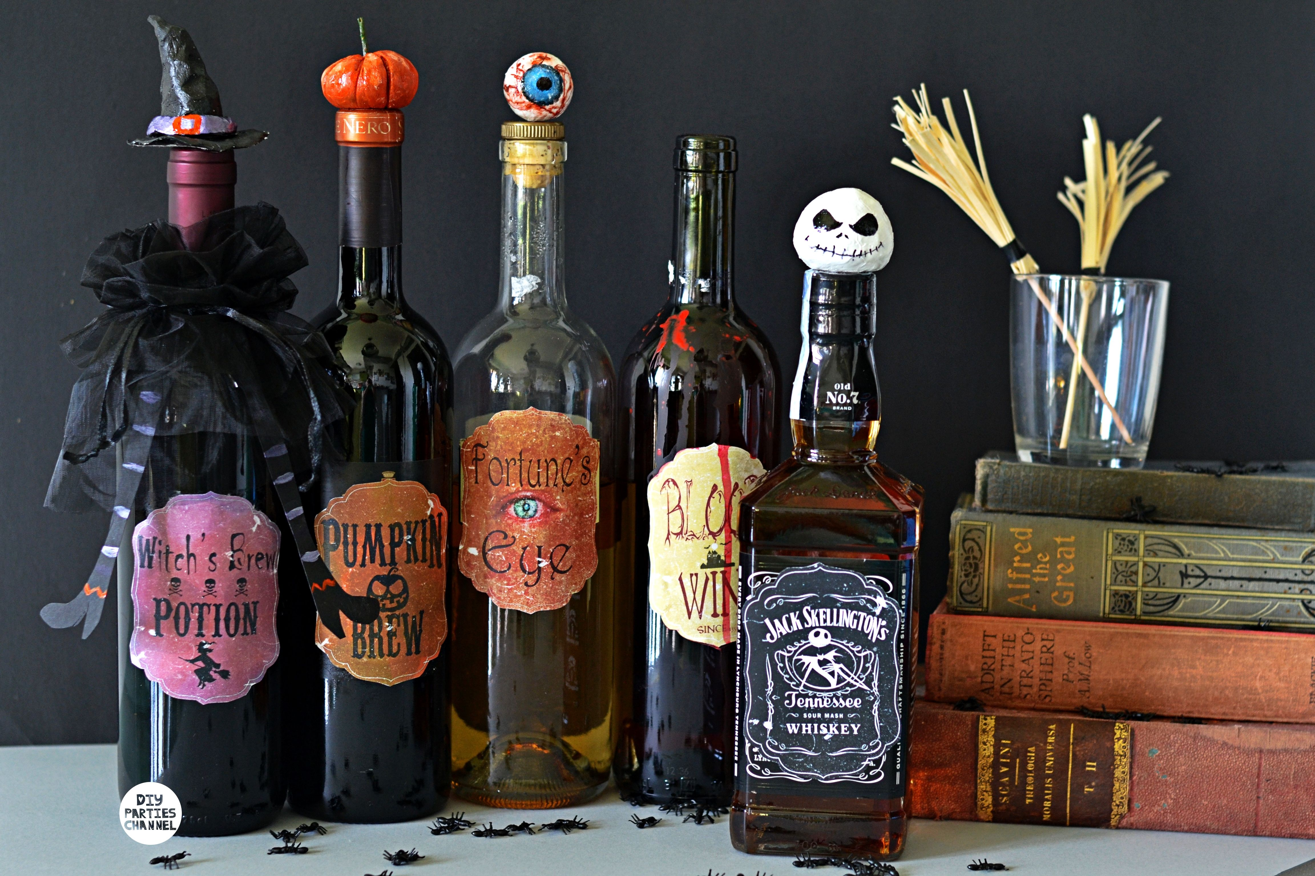 Diy Halloween Apothecary Potion Bottles Crafts Decor Jack Skellington Halloween Potion Bottles Halloween Potions Christmas Wine Bottle Labels