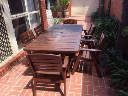 Clarecraft Solid Jarrah Outdoor Table And Chairs Outdoor