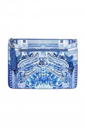 """3357bf3a4df CAMILLA FANCIFUL LARGE CANVAS CLUTCH 1. """""""