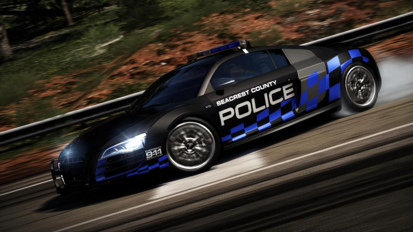 Audi R8 Need For Speed Hot Pursuit Cop Free Hd Wallpapers Audi
