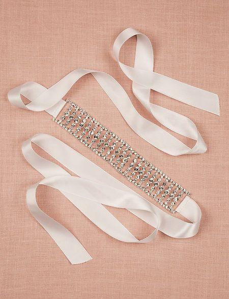 Pull your ensemble together with this glamorous jewel embellished sash. #Lewedding #wedding #styledowntheaisle
