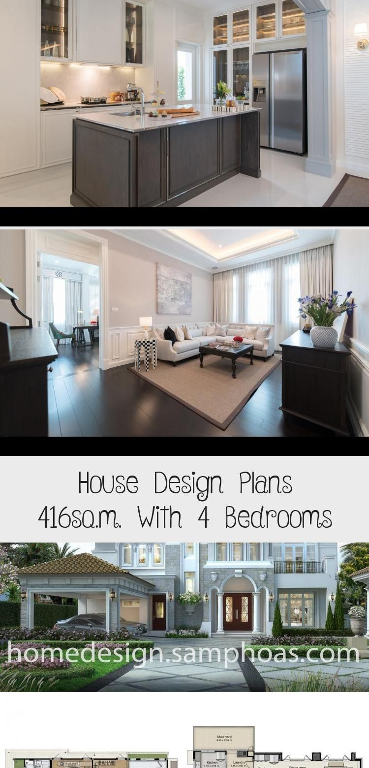House Design Plans 416sq M With 4 Bedrooms Home Ideas Floorplans4bedroommodern Floorplans4bedroomrecta In 2020 Home Design Plans House Design Floor Plan 4 Bedroom