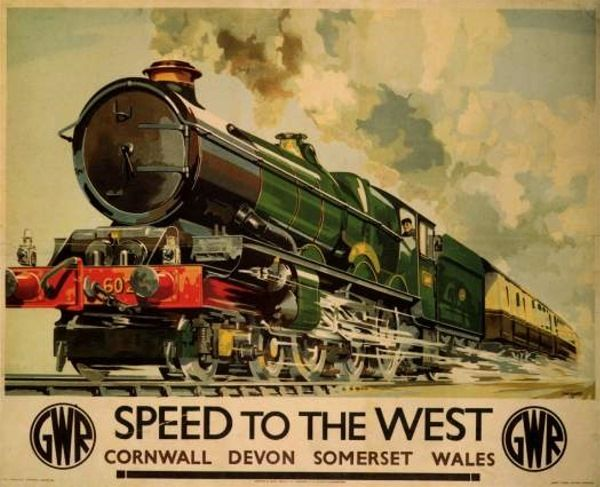 speed to the west vintage travel ads pinterest railway posters travel posters and vintage. Black Bedroom Furniture Sets. Home Design Ideas