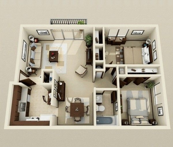 Nice 2 Bedroom Apartment/House Plans