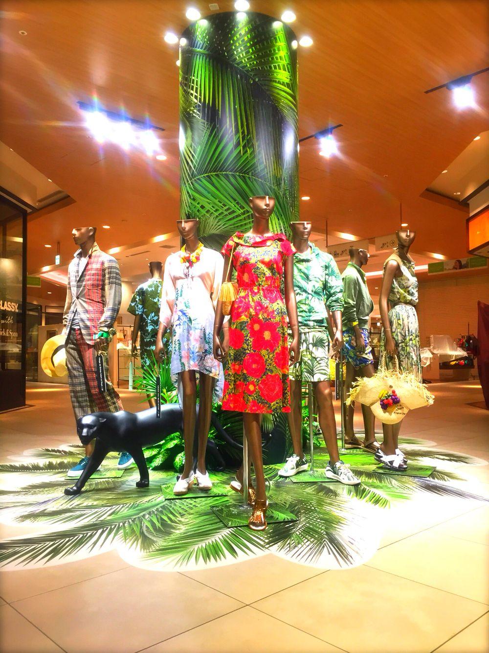 Futakotamagawa rise s.c.  visual presentation 「welcome to the jungle」#summer #shopping #visualpresentation #二子玉川 #futakotamagawa