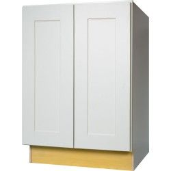 Best 24 Inch Full Height Door Base Cabinet In Shaker White With 400 x 300