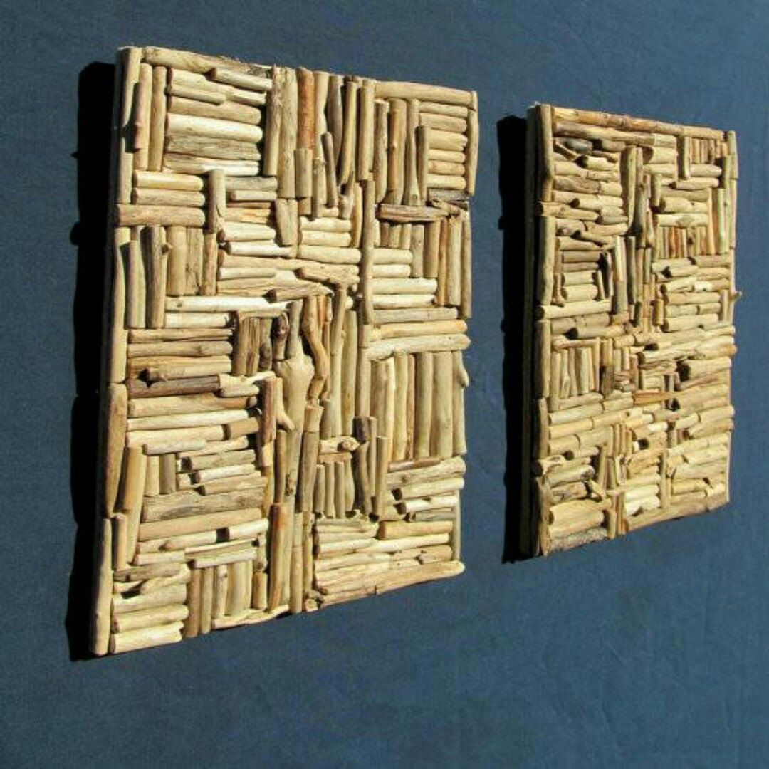 New to our line, large wall hanging driftwood mosaics in ...