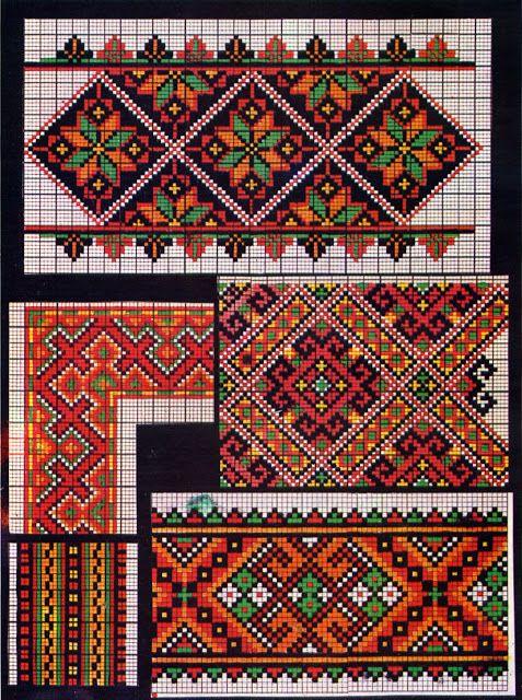 ukrainian folk embroidery: Kolotylo 141 | Mustersammlung | Pinterest ...