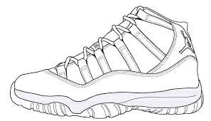 Image Result For Jordan 9 Coloring Pages Sneakers Sketch Shoe