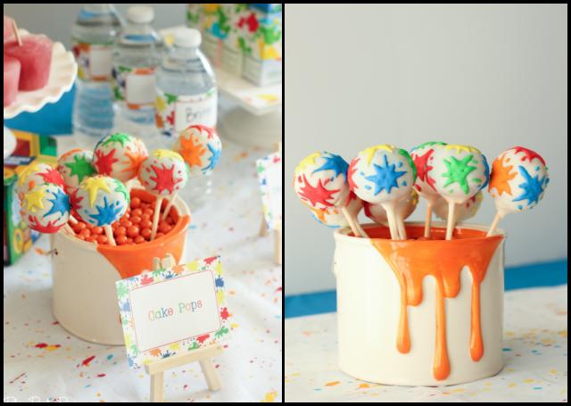 Art Party Painting Art Splat Art Party Cake Topper Art Birthday Decorations Paint Pallet Rainbow Party Decorations
