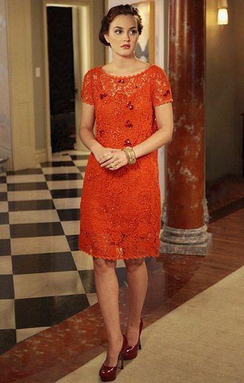 "'Gossip Girl,' Season 5, Episode 6: ""I Am Number Nine"" BLAIR WALDORF  Dress: Blumarine]+ Shoes: Sergio Rossi]+ Bangle: Sequin"