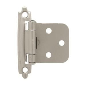 South Main Hardware Satin Nickel 3 8 In Inset Hinge 25 Pairs Sh7114 Sn 25 The Home Depot In 2020 Overlay Cabinet Hinges Hinges For Cabinets Overlay Hinges