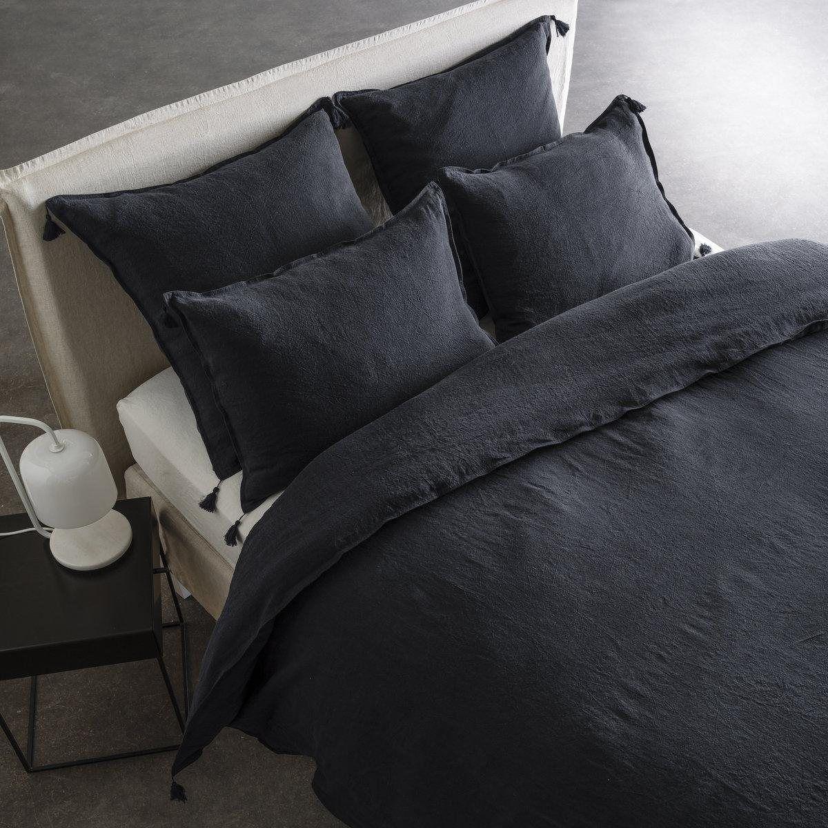 Housse de couette en lin lav carly am pm la redoute linen textiles pinterest bedroom - La redoute linge de lit en lin ...