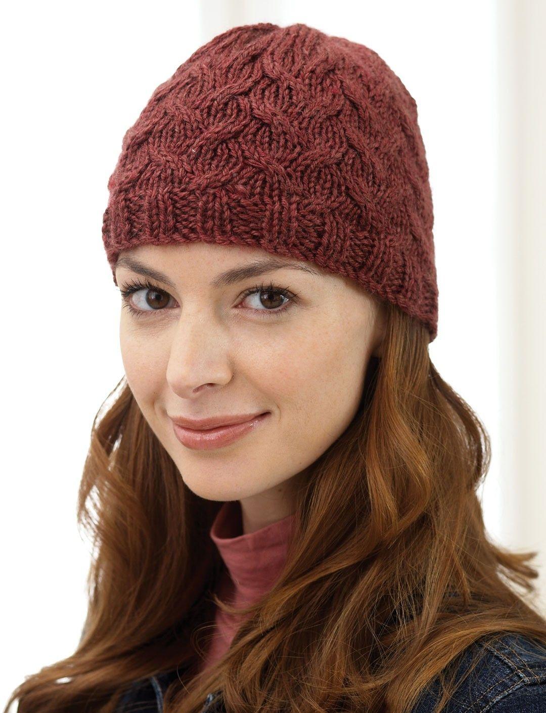 Yarnspirations.com - Bernat Cable Hat - Patterns ...