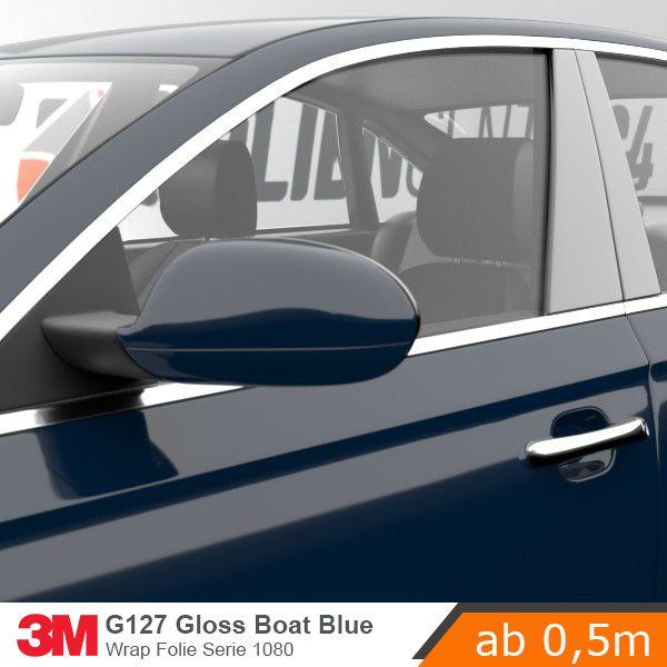 3m 1080 g127 gloss boat blue car wrap autofolie 152cm fahrzeuge autos. Black Bedroom Furniture Sets. Home Design Ideas