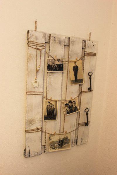 schl sselbretter k sten memoboard shabby vintage pinnwand wei ein designerst ck von. Black Bedroom Furniture Sets. Home Design Ideas