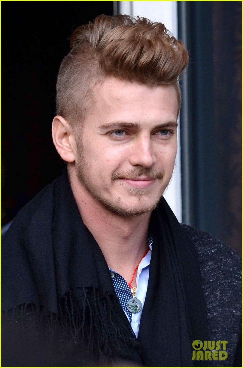 hayden christensen new haircut at press conference, i