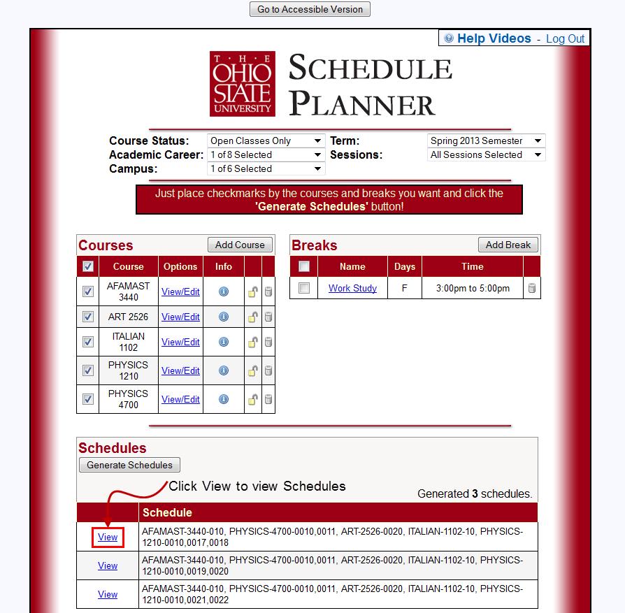 Class Schedule Planner Iowa State 3 Fantastic Vacation