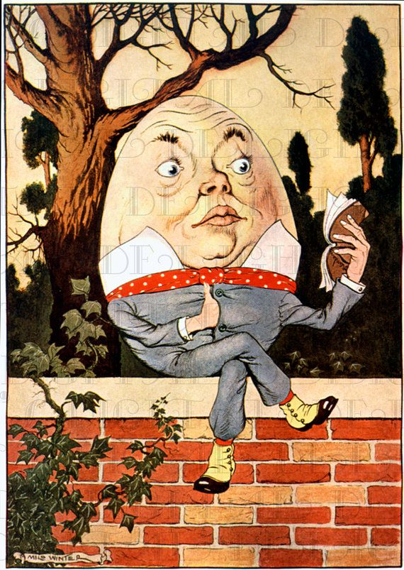 From First Edition Humpty Dumpty Reads A Good Book Alice In