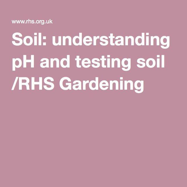 Soil Understanding Ph And Testing Soil Rhs Gardening Soil