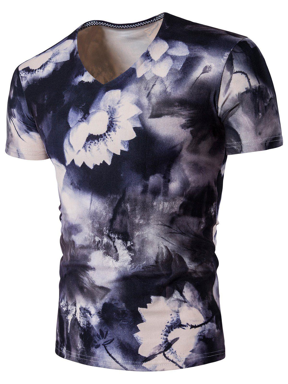 V neck lotus flower t shirt lotus flower v neck lotus flower t shirt izmirmasajfo Images