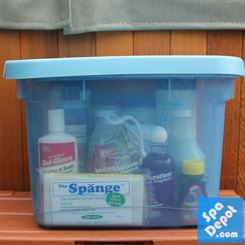Use a Portable Storage Bin to Keep your Hot Tub Chemicals Organized! & Use a Portable Storage Bin to Keep your Hot Tub Chemicals Organized ...