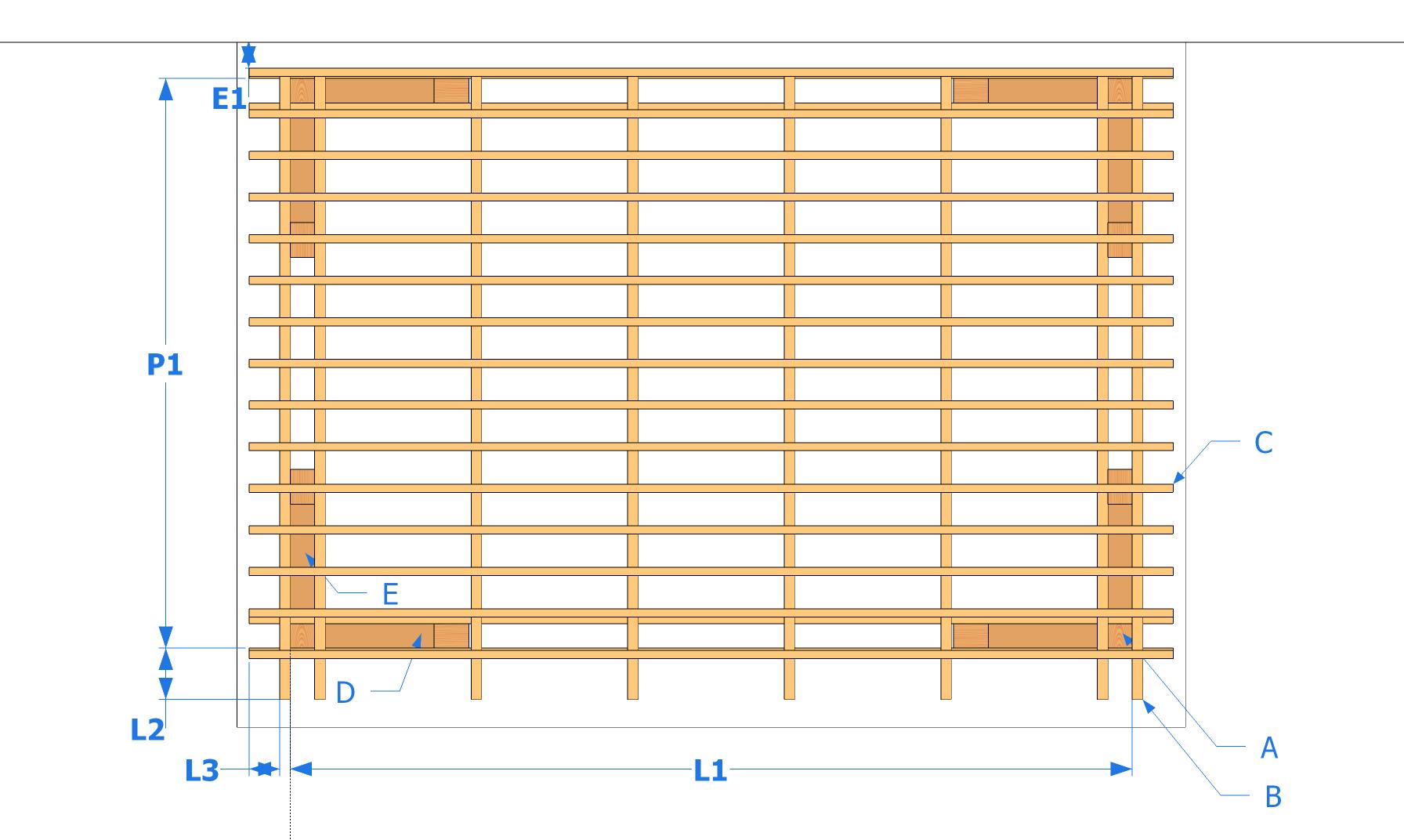 Construction Pergola Bois Plan plans (élévations) le guide de construction des pergolas et