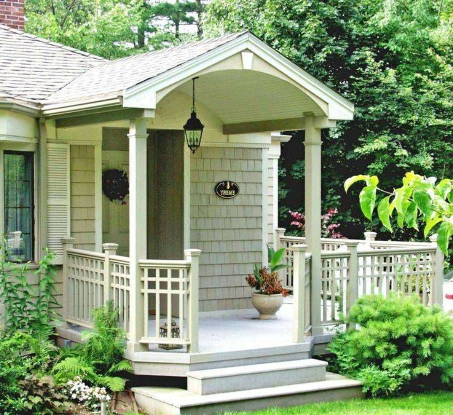 Landscaping and outdoor building home front porch for Small house front door ideas