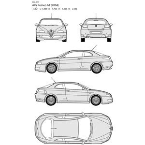 Vector art illustration alfa romeo car all side blueprint auta vector art illustration alfa romeo car all side blueprint malvernweather Gallery