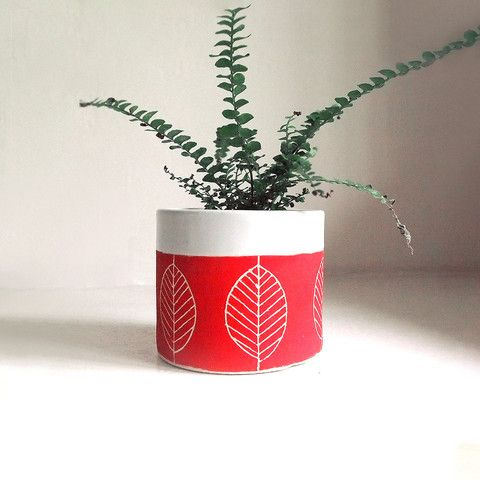 Ceramic Leaf Planter/Cup, $45, now featured on Fab.