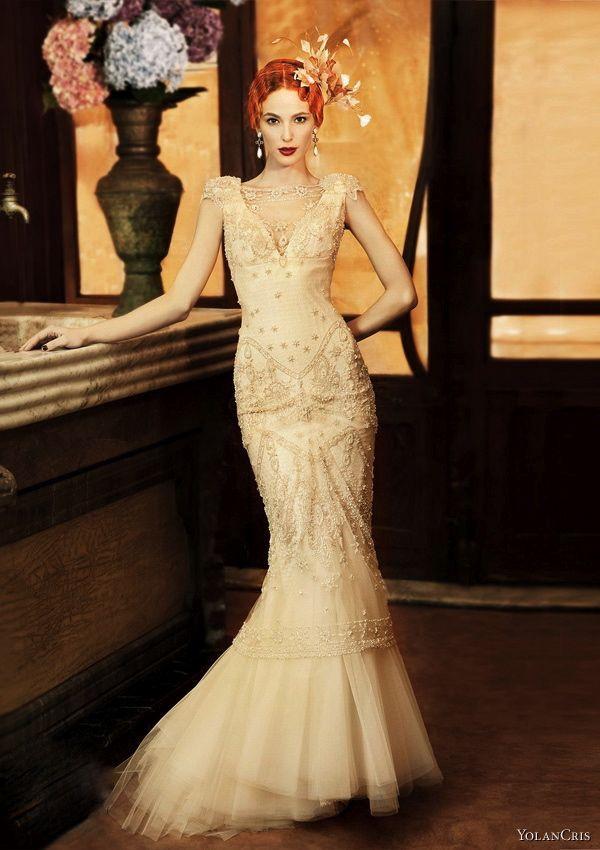 Vintage inspired wedding dresses. Love the 20s feel. | Wedding + ...