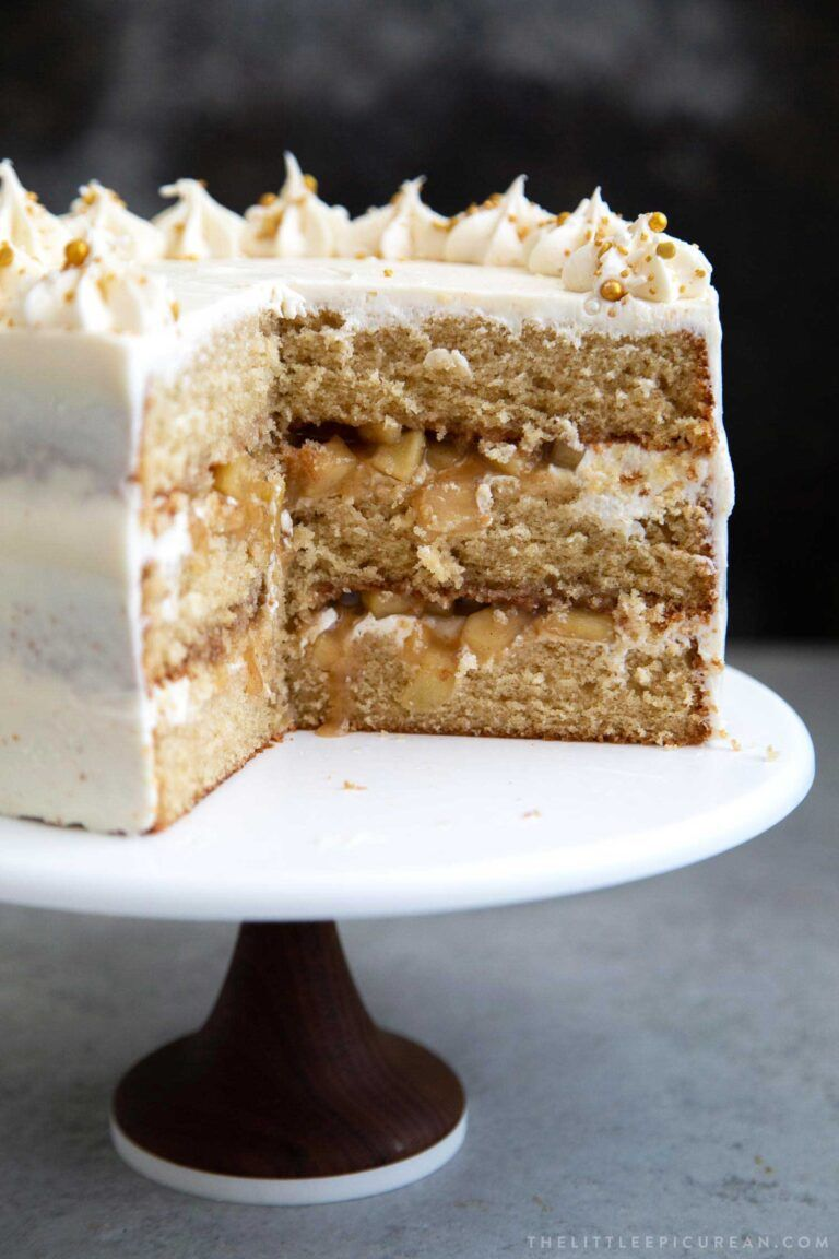 Apple cider layer cake the little epicurean recipe