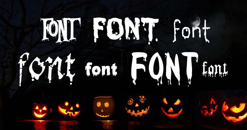 خطوط الهالوين 2017 مدونة فوتوشوب Halloween Fonts Pumpkin Carving Carving