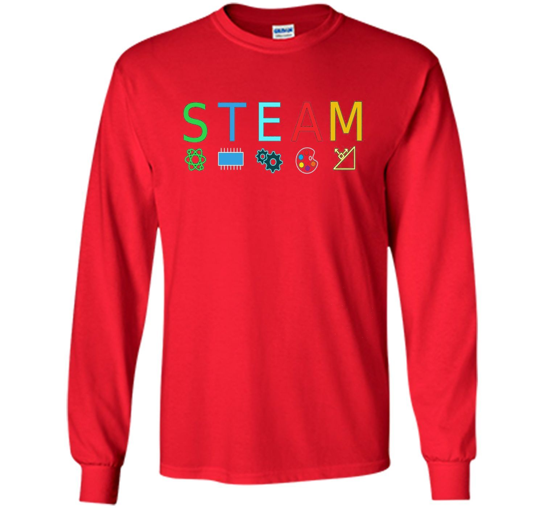 STEAM Symbols T Shirt STEM Science Engineering ART Math Tee